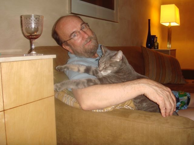 Bill with cats