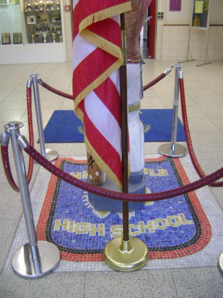 (080516)(013) Wiesbaden-Gen H.H. Arnold HS-US Flag & Crest