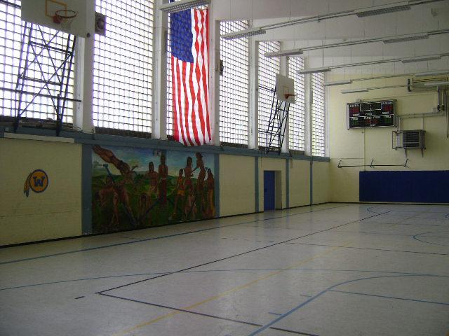 (080516)(016) Wiesbaden-Gen H.H. Arnold HS-Main Gym Interior